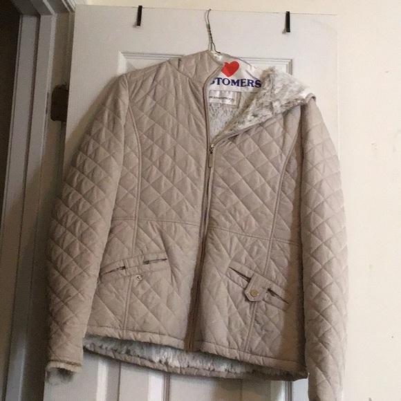 Jackets & Blazers - Cream small weatherproof jacket